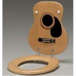abattant toilettes guitare folk acoustique