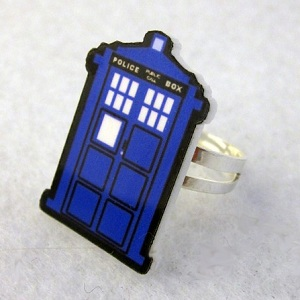 bague ajustable TARDIS dortor who