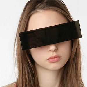 lunettes de soleil barre noire anonyme
