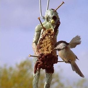 mangeoire zombie oiseaux