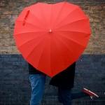 parapluie en forme de coeur