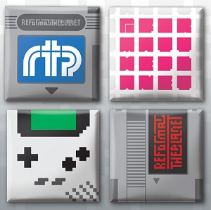 retro game badge