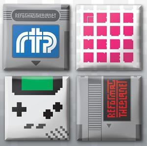 retro game badge