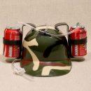 casque-canette-boisson-paille-militaire