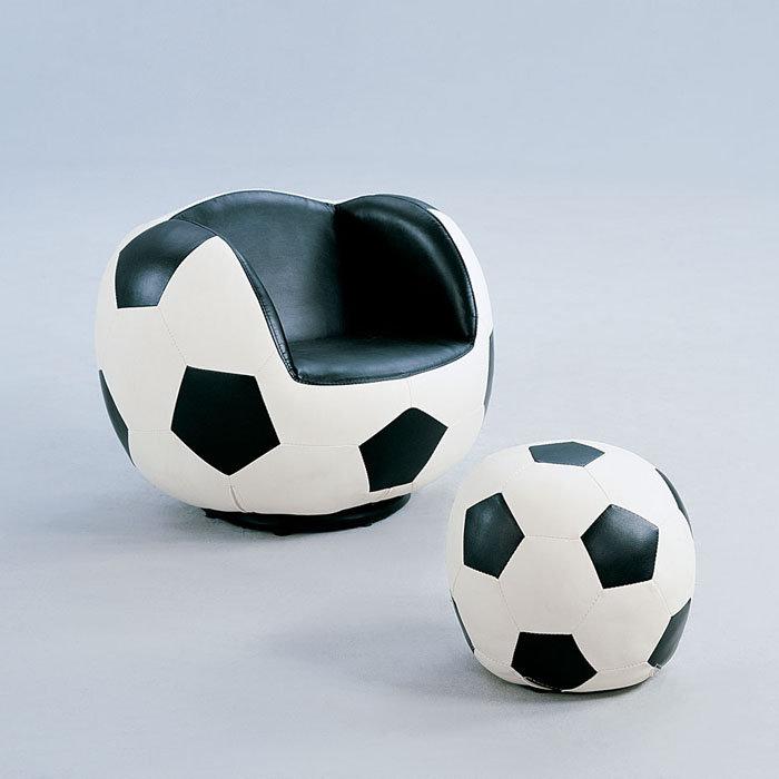 Fauteuil et pouf de sportif baseball football basketball vous de choisir - Fauteuil ballon de foot ...