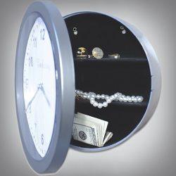 Cachette secrète horloge murale coffre fort