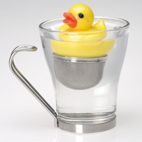 Infuseur th canard en plastique un coincoin jaune dans - Infuseur a the rigolo ...