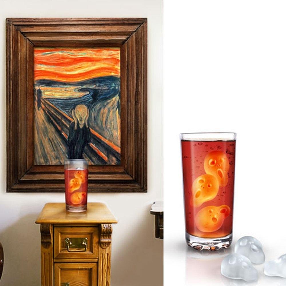 moule gla on le cri de munch un cot effrayant vos verres. Black Bedroom Furniture Sets. Home Design Ideas