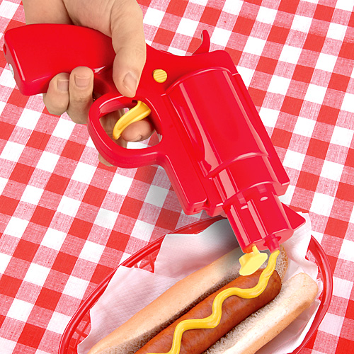 pistolet-sauce-condiment-ketchup-mayonaise-moutarde