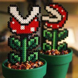 Plante carnivore Mario en plastique