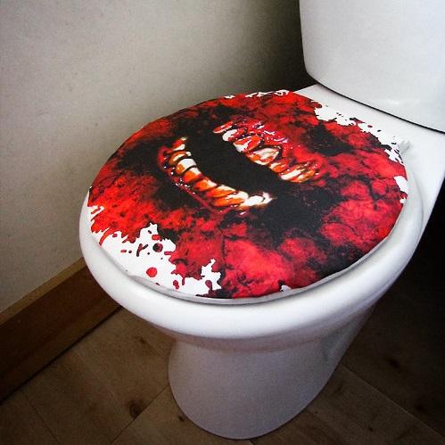 rev tement wc zombie ensanglant e pour une cuvette sanglante. Black Bedroom Furniture Sets. Home Design Ideas