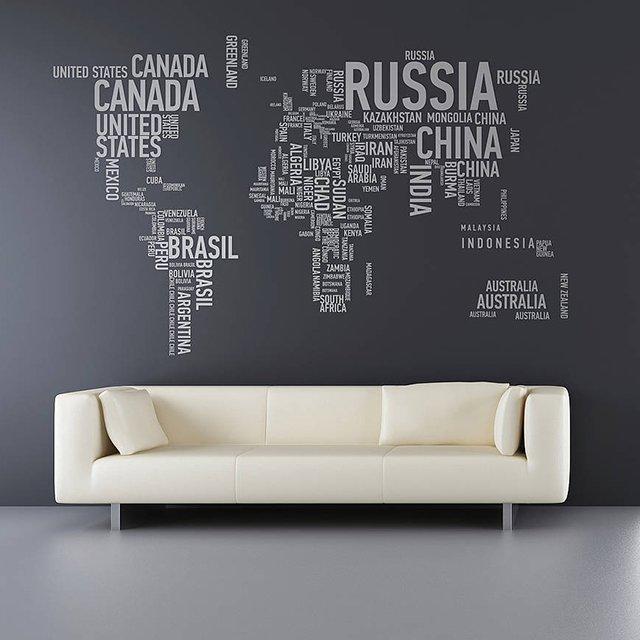 Sticker Mural Mappemonde Un Autocollant Parfait Pour