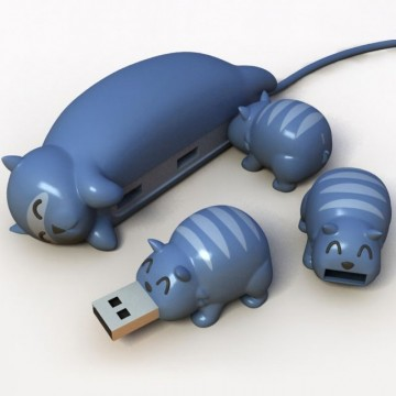 hub-usb-chat-chaton