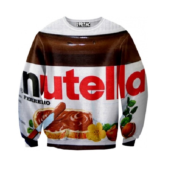 Sweat nutella devenez un pot de p te tartiner vivant avec ce pull - Lampe pot de nutella ...