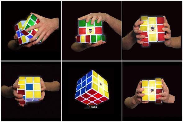 Lampe ruibik cube modulable