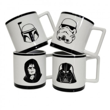 set 4 tasses café Star Wars
