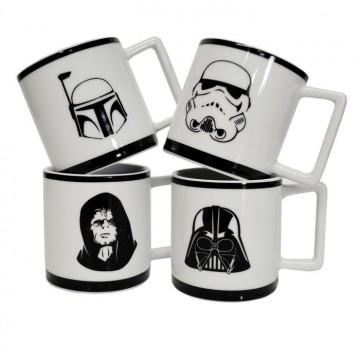 set 4 tasses café Star Wars