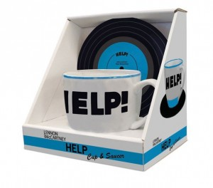 Pack mug et sous-tasse Beatles Help