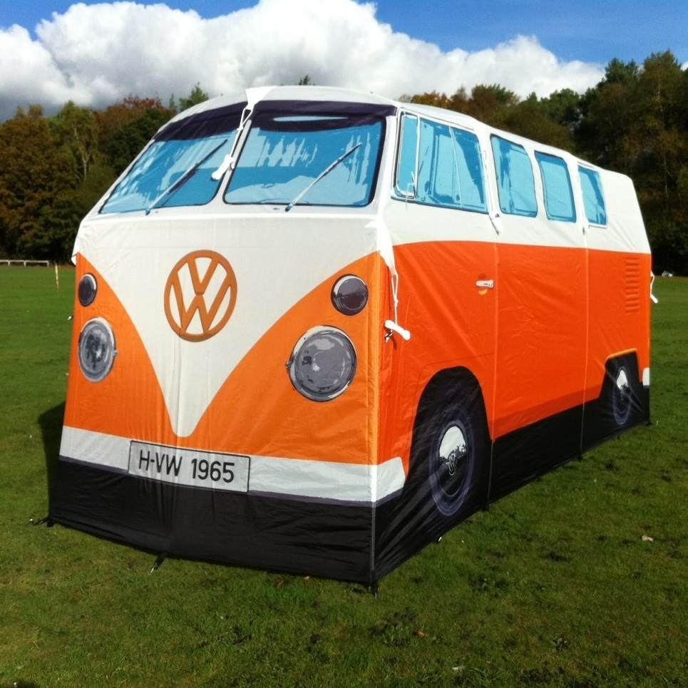 tente combi volkswagen 1965 la mode hippie au camping. Black Bedroom Furniture Sets. Home Design Ideas