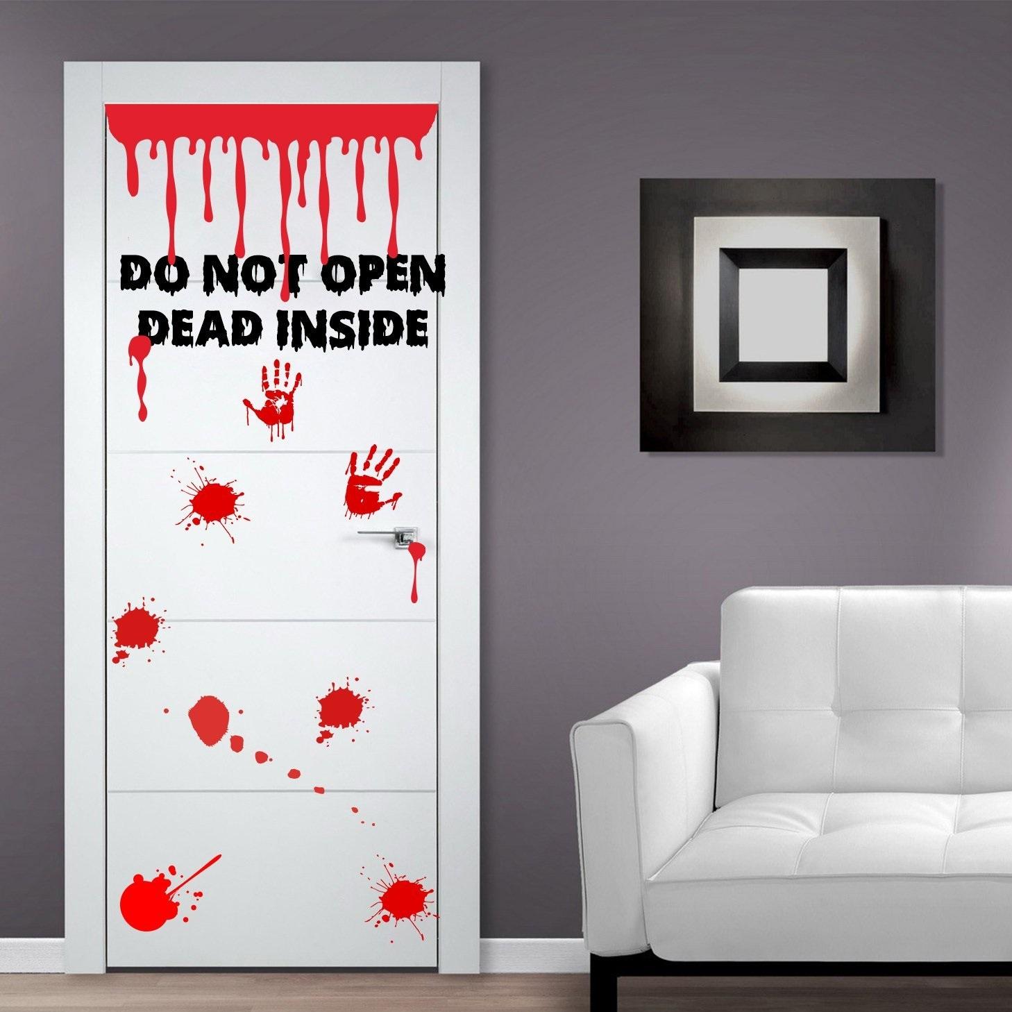 autocollant-zombie-tache-de-sang-porte-stickers