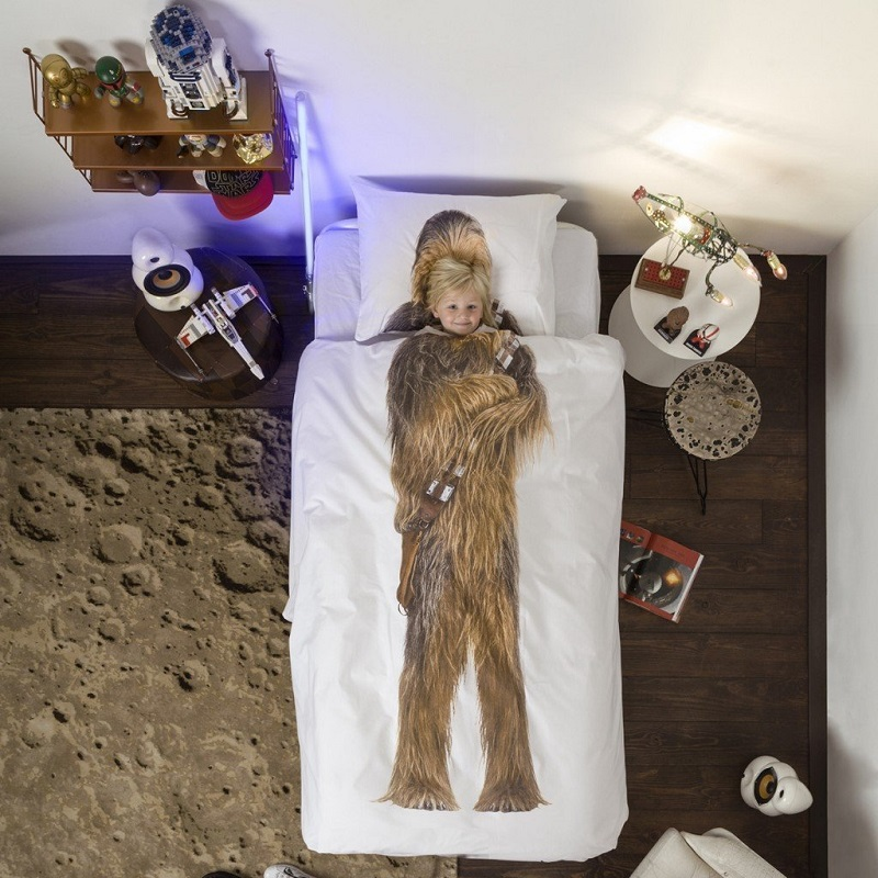 parure de lit chewbacca de star wars housse de couette et. Black Bedroom Furniture Sets. Home Design Ideas