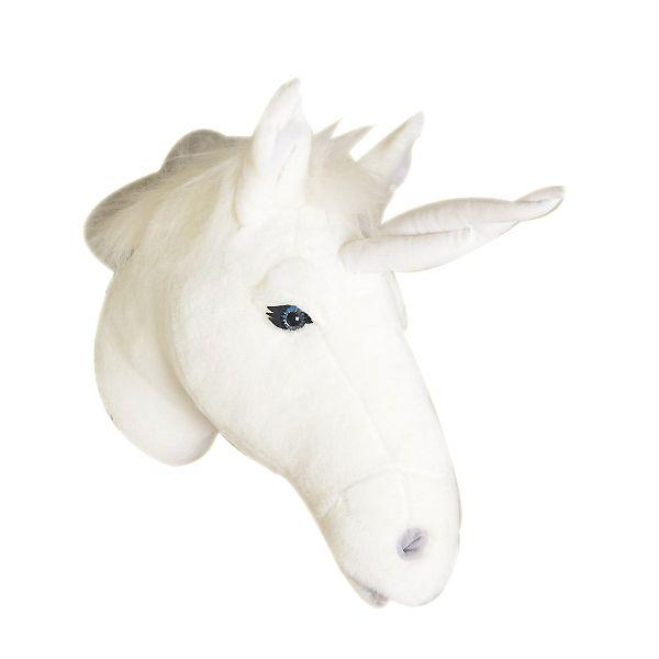 trophee-peluche-tete-de-licorne-blanche-deco-murale-1