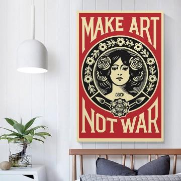 affiche-make-art-not-war-Shepard-Fairey
